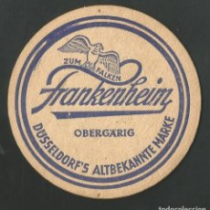 Coleccionismo de vinos y licores: POSAVASO ZUM FALKEN FRNKENHEIM. Lote 194347793