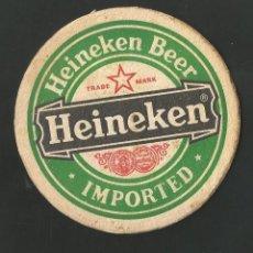 Coleccionismo de vinos y licores: POSAVSO HEINEKEN. Lote 194347813