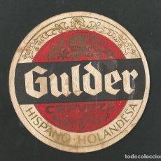 Coleccionismo de vinos y licores: POSAVASO CERVEZA GULDER. Lote 194347905
