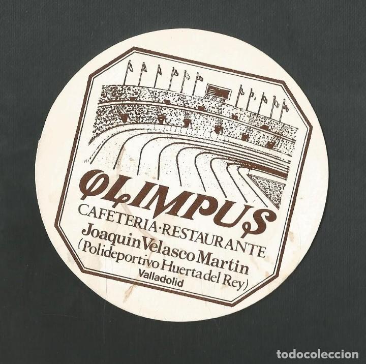 POSAVASO CAFETERIA OLIMPUS CAFETERIA RESTAURANTE VLLADOLID (Coleccionismo - Botellas y Bebidas - Vinos, Licores y Aguardientes)