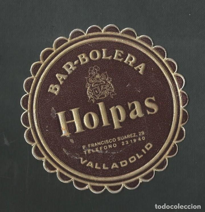 POSAVASO BAR BOLERA HOLPAS VALLADOLID (Coleccionismo - Botellas y Bebidas - Vinos, Licores y Aguardientes)