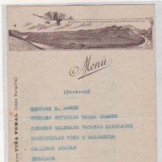 Coleccionismo de vinos y licores: MENU BODEGAS BILBAINAS. VINOS FINOS DE RIOJA. CHAMPAN LUMEN. VISTA DE HARO LOGROÑO. VIÑA POMAL.. Lote 194369178