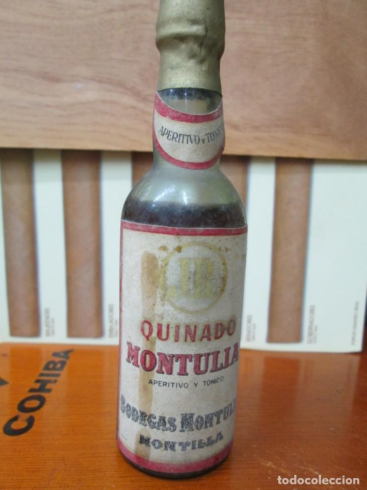 ANTIGUO BOTELLIN, QUINADO MONTULIA, BODEGAS MONTULIA (Coleccionismo - Botellas y Bebidas - Vinos, Licores y Aguardientes)