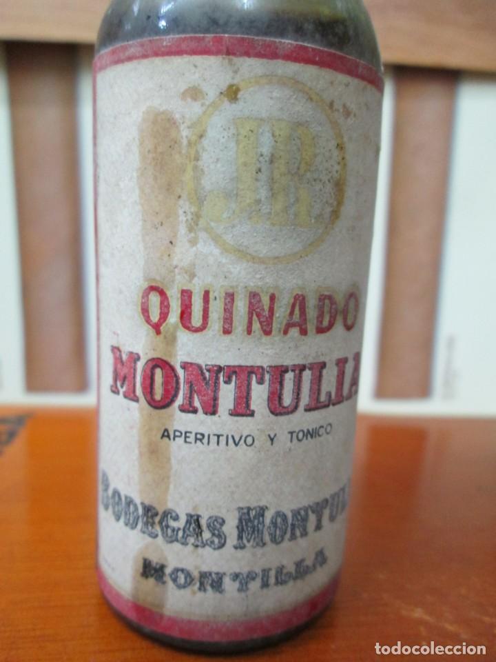 Coleccionismo de vinos y licores: ANTIGUO BOTELLIN, QUINADO MONTULIA, BODEGAS MONTULIA - Foto 2 - 194515507