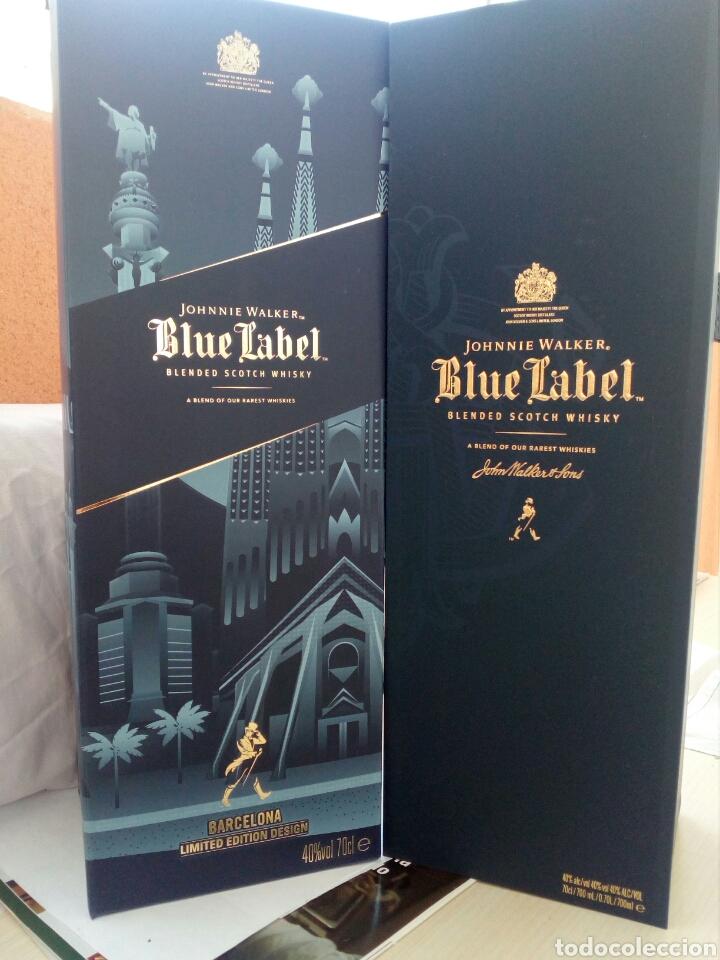 Coleccionismo de vinos y licores: BOTELLA WHISKY JOHNNIE WALKER, BLUE LABEL, EDICIÓN ESPECIAL BARCELONA. - Foto 2 - 194530542