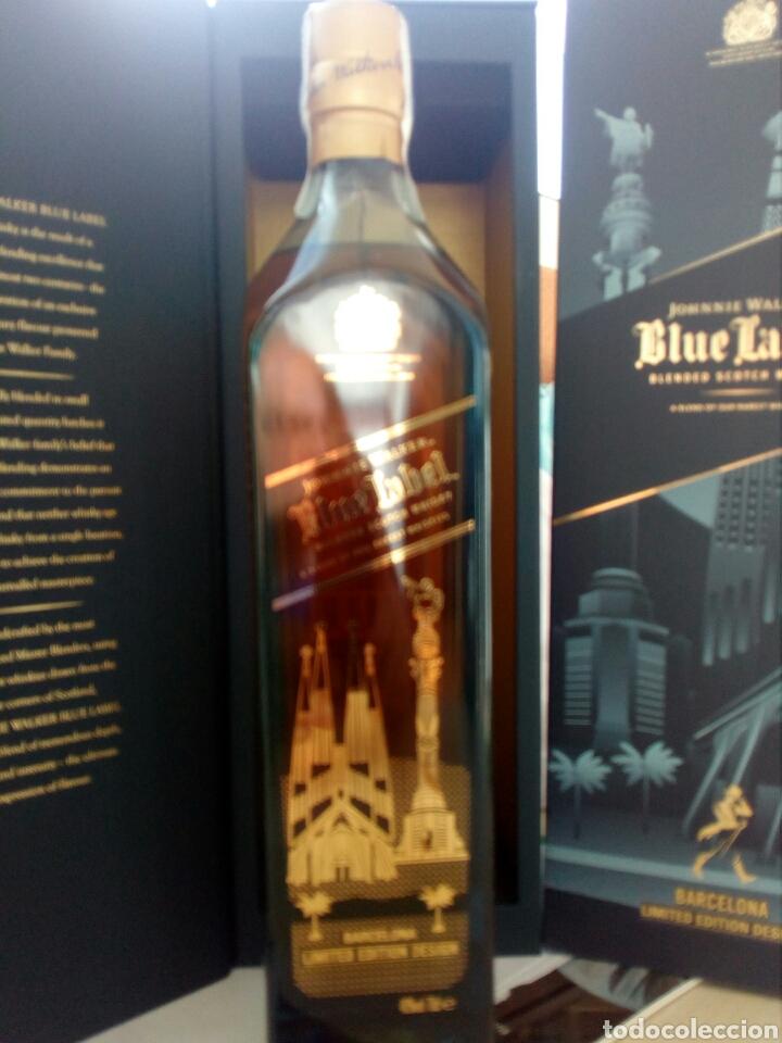 Coleccionismo de vinos y licores: BOTELLA WHISKY JOHNNIE WALKER, BLUE LABEL, EDICIÓN ESPECIAL BARCELONA. - Foto 5 - 194530542