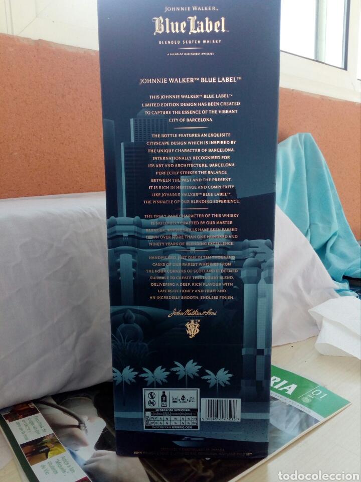 Coleccionismo de vinos y licores: BOTELLA WHISKY JOHNNIE WALKER, BLUE LABEL, EDICIÓN ESPECIAL BARCELONA. - Foto 10 - 194530542