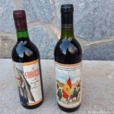 Coleccionismo de vinos y licores: DOS CURIOSAS BOTELLAS DE VINO. Lote 194534033