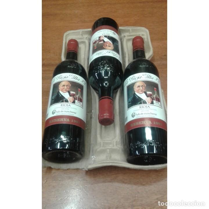 LOTE 3 BOTELLAS RIOJA ALTA - RESERVA - 1991 - RIOJA (Coleccionismo - Botellas y Bebidas - Vinos, Licores y Aguardientes)