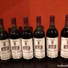 Coleccionismo de vinos y licores: 6 BOTELLAS CON DE LA SALCEDA RESERVA 1973. Lote 194585620