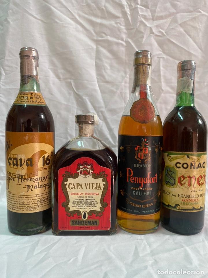 X4 BRANDY CAVA 16 · CAPA VIEJA RESERVA · PENYAFORT GALLEMI · COÑAC SENEX 0,75 LITROS/1 LITRO (Coleccionismo - Botellas y Bebidas - Vinos, Licores y Aguardientes)