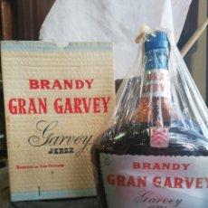 Coleccionismo de vinos y licores: BRANDY GRAN GARVEY, 80CTS,ENTERA,CON CAJA. Lote 194711262