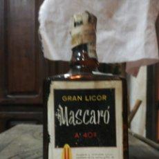 Coleccionismo de vinos y licores: GRAN LICOR MASCARO, 8 PTAS, ENTERA. Lote 194716607