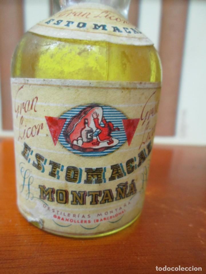 Coleccionismo de vinos y licores: ANTIGUO BOTELLIN, GRAN LICOR ESTOMACAL MONTAÑA - Foto 2 - 194878240