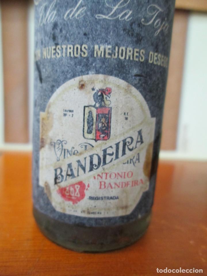 Coleccionismo de vinos y licores: ANTIGUO BOTELLIN, VINO ANTONIO BANDEIRA SUPERIOR - Foto 2 - 194878933