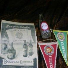 Coleccionismo de vinos y licores: LOTE OBJETOS DE BODEGAS GUERRA DE CACABELOS. Lote 194900411