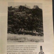Coleccionismo de vinos y licores: PUBLICIDAD DE REVISTA DE WHISKEY JACK DANIEL'S. ORIGINAL AÑO 1999. TAMAÑO FOLIO. ENMARCABLE.. Lote 195039806