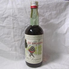 Coleccionismo de vinos y licores: BOTELLA FUNDADOR COGNAC DE PEDRO DOMECQ, PRECINTO 4 PESETAS. Lote 195047122