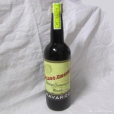 Coleccionismo de vinos y licores: BOTELLA DE VINO DE PASAS PEDRO XIMENEZ BODEGAS NAVARRO. Lote 195047366