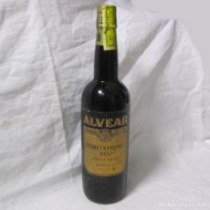 Coleccionismo de vinos y licores: BOTELLA DE VINO DULCE VIEJO ALVEAR PEDRO XIMENEZ 1927 MONTILLA. Lote 195047412