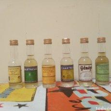 Coleccionismo de vinos y licores: LOTE MINI BOTELLAS CHARTREUSE. Lote 195097527