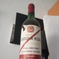 Coleccionismo de vinos y licores: CASTILLO DE MELISA BODEGA JULIÁN CHIVITE TINTO 2 AÑO . Lote 195158642