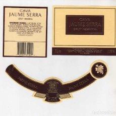 Coleccionismo de vinos y licores: ETIQUETAS CAVA-JAUME SERRA. Lote 195329396