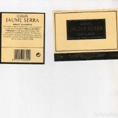 Coleccionismo de vinos y licores: ETIQUETAS CAVA-JAUME SERRA. Lote 195329658