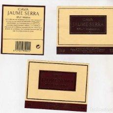Coleccionismo de vinos y licores: ETIQUETAS CAVA-JAUME SERRA. Lote 195329693