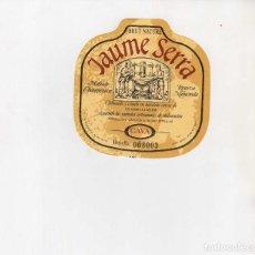 Coleccionismo de vinos y licores: ETIQUETAS CAVA-JAUME SERRA. Lote 195329741