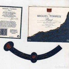 Coleccionismo de vinos y licores: ETIQUETAS CAVA-MIGUEL TORRES. Lote 195329797