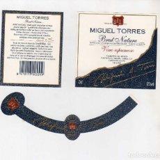 Coleccionismo de vinos y licores: ETIQUETAS CAVA-MIGUEL TORRES. Lote 195329832