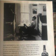 Coleccionismo de vinos y licores: PUBLICIDAD DE REVISTA DE WHISKEY JACK DANIEL'S. ORIGINAL AÑO 1998. TAMAÑO FOLIO. ENMARCABLE.. Lote 195332640