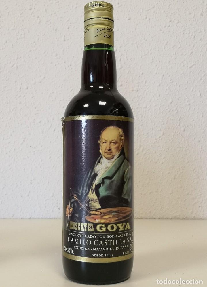 BOTELLA MOSCATEL GOYA (Coleccionismo - Botellas y Bebidas - Vinos, Licores y Aguardientes)