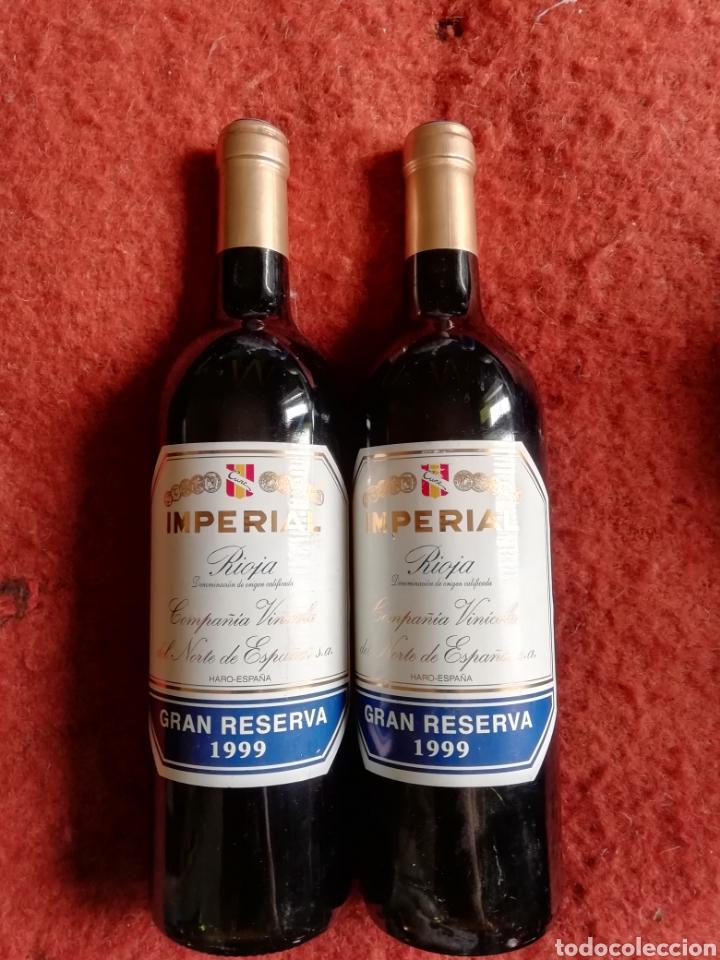 PAR DE BOTELLAS CUNE IMPERIAL RIOJA GRAN RESERVA 1999 (Coleccionismo - Botellas y Bebidas - Vinos, Licores y Aguardientes)