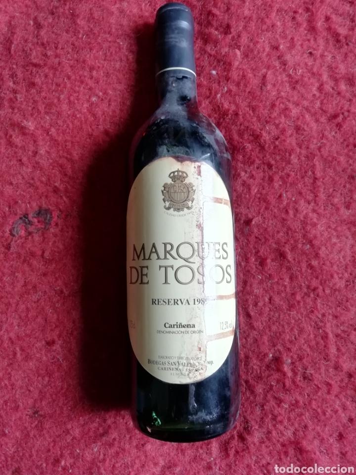 MARQUÉS DE TOSOS TEMPRANILLO RESERVA 1989 (Coleccionismo - Botellas y Bebidas - Vinos, Licores y Aguardientes)