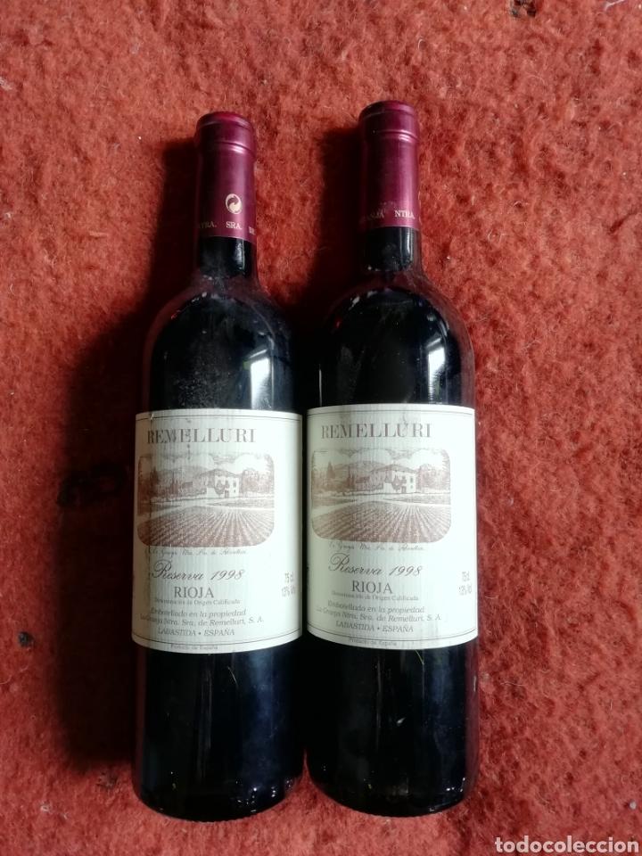 REMELLURI RIOJA RESERVA 1998 (Coleccionismo - Botellas y Bebidas - Vinos, Licores y Aguardientes)