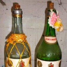 Coleccionismo de vinos y licores: DOS BOTELLAS DE BRANDY CENTENARIO DE 5 LT. PARA DECORAR. Lote 195472756