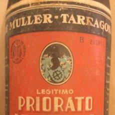 Coleccionismo de vinos y licores: DE MULLER TARRAGONA ANTIGUA BOTELLA GRAN RESERVA LEGÍTIMO PRIORATO. Lote 195531645