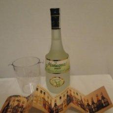 Coleccionismo de vinos y licores: BOTELLA MARIE BRIZARD, LICOR DE MANZANA VERDE. NUEVA, SIN ABRIR. AÑOS 90.CON CUBITERA Y GAMA LICORES. Lote 196378735