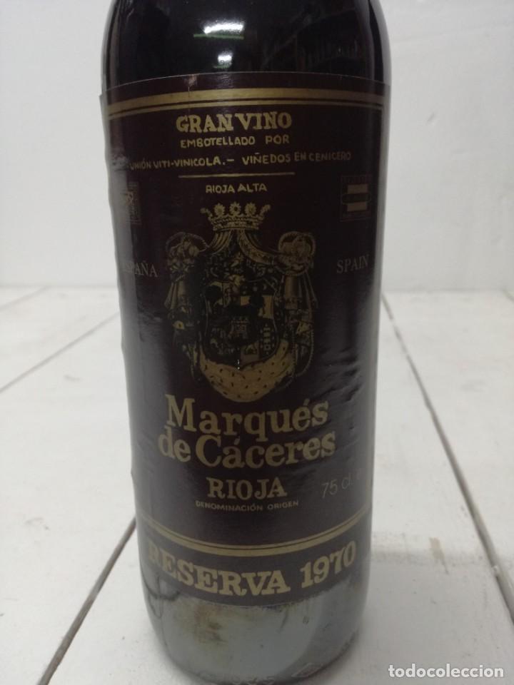 VINO RIOJA MARQUES DE CACERES RESERVA 1970 CENICERO (Coleccionismo - Botellas y Bebidas - Vinos, Licores y Aguardientes)