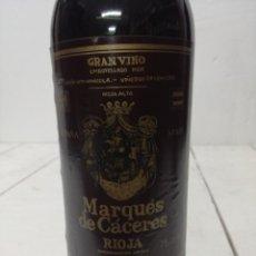 Coleccionismo de vinos y licores: VINO RIOJA MARQUES DE CACERES RESERVA 1970 CENICERO . Lote 196904622