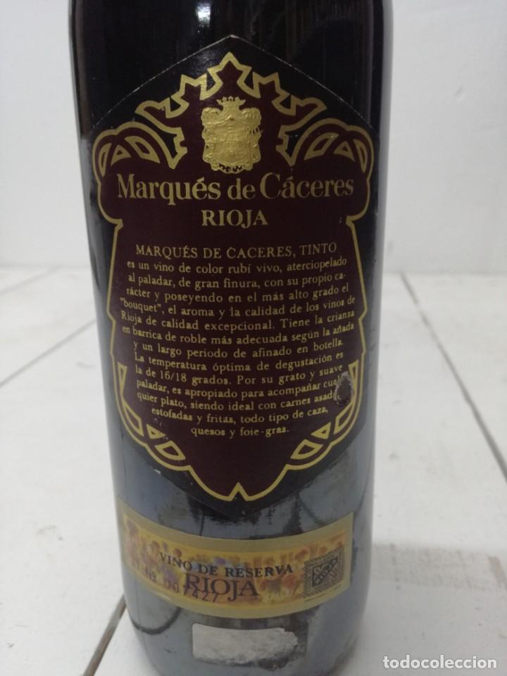 Coleccionismo de vinos y licores: VINO RIOJA MARQUES DE CACERES RESERVA 1970 CENICERO - Foto 7 - 196904622