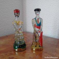 Coleccionismo de vinos y licores: 2 BOTELLITAS NOGUERAS COMAS BARCELONA PRECINTADAS. TORERO Y FLAMENCA. Lote 197236667
