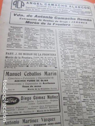 Coleccionismo de vinos y licores: SEVILLA 1947 - MARCHENA ANIS - EL ARAHAL - PARADAS - MORON DE LA FRONTERA - ALGAMITAS - Foto 4 - 197659805