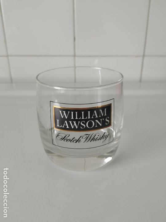 VASO WHISKY WILLIAM LAWSON' S. EN PERFECTO ESTADO (Coleccionismo - Botellas y Bebidas - Vinos, Licores y Aguardientes)