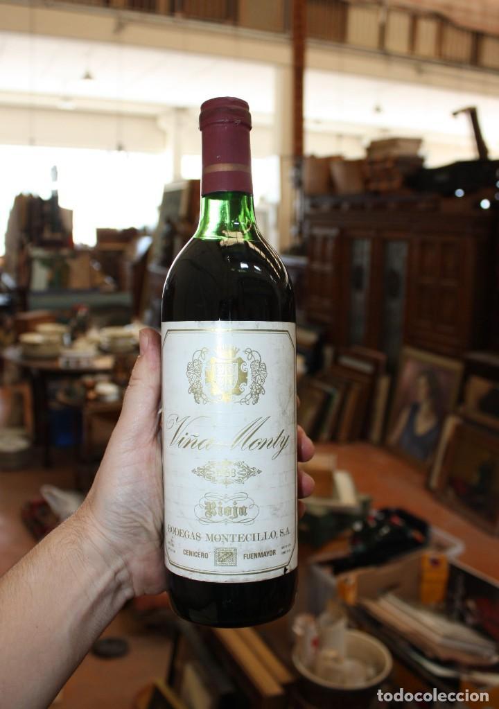 Coleccionismo de vinos y licores: BOTELLA DE VINO TINTO RIOJA - VIÑA MONTY - COSECHA 1968 - Foto 2 - 203202665