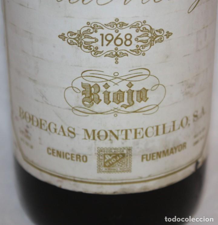 Coleccionismo de vinos y licores: BOTELLA DE VINO TINTO RIOJA - VIÑA MONTY - COSECHA 1968 - Foto 7 - 203202665