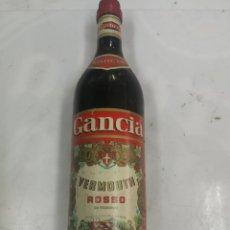 Coleccionismo de vinos y licores: BOTELLA VERMOUTH ROSSO GANCIA. DESTILERIA FILLI GANCIA & CIA. TORINO. ELABORADO EN ESPAÑA AÑOS 70. Lote 203430840