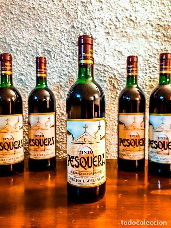 5 BOTELLAS PESQUERA - COSECHA ESPECIAL 1985 - TINTO (Coleccionismo - Botellas y Bebidas - Vinos, Licores y Aguardientes)